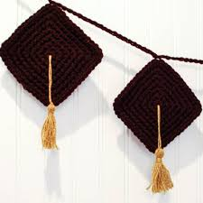 graduation decor crafty graduation decor crochet bunting pattern petals to picots