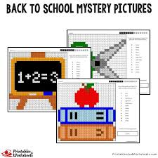 Back To School Color By Number Mystery Pictures Coloring Pages Mystery Coloring Pages