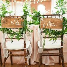chair decorations and groom chair decorations brides