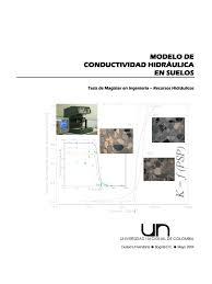 modelo de conductividad hidrauliuca
