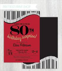 theme invitations 26 80th birthday invitation templates free sle exle