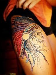 indian headdress tattoo on ribs cute indian skull tattoos pinterest tattoo tatting and piercings