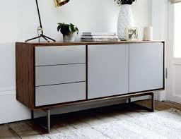 Sideboard Walnut Ludlow Sideboard Walnut And Light Grey Dwell