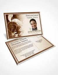 bifold order of service obituary template brochure a beautiful
