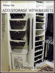 storage shelves with baskets diy design fanatic diy storage how to store your stuff
