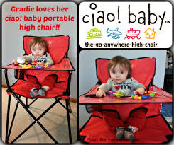 Portable Baby High Chair Ciao Baby Portable High Chair Review U0026 Giveaway