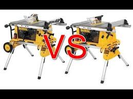 Table Saw Stand With Wheels Review Dewalt Dw744xrs And Dw7440rs Youtube