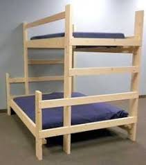 Plans For Twin Bunk Beds by Twin Xl Over Full Xl Futon Bunk Bed With Optional Golden Oak
