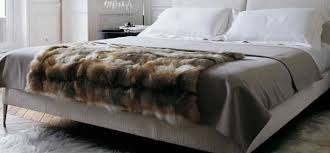 amber fox faux fur throw blanket for home decor next luxury