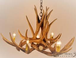 lamp u0026 lighting authentic looking deer antler chandelier for your
