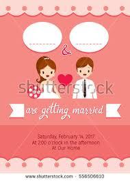 wedding invitation card template bride groom stock vector