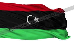 Libyas Flag Isolated Waving National Flag Of Libya Youtube