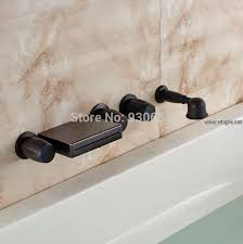 Shower Faucet Oil Rubbed Bronze Retro Oil Rubbed Bronze Wall Mounted Waterfall Bathtub Faucet With