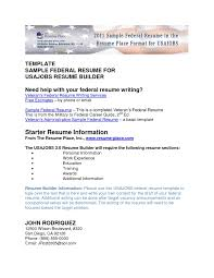 Job Resume Guide by Federal Job Resume Samples Resume For Your Job Application
