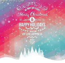 vector merry christmas and happy new year 2014 greeting card