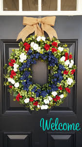 Fourth Of July Door Decorations Boxwood Wreath Patriotic Summer Wreath 4th Of July Spring