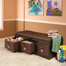Bench With Cushion Badger Basket Kids Storage Bench With Cushion U0026 3 Bins Espresso