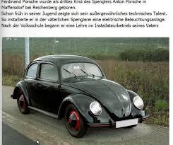 ferdinand porsche beetle ferdinand porsche homepage der sudetendeutschen in bayreuth und