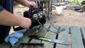 craftsman 48250 chainsaw chain pops off fixed youtube