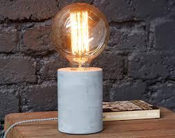 Ampoule Deco Filament Lampe Pied Béton Ampoule Filament Rétro Becquet