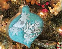 craft klatch glitter resin and metal christmas ornament diy