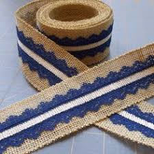 navy lace ribbon navy and gold burlap ribbon with white lace ribbon 2 inch x 3