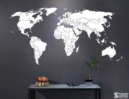 world map countries wall decal world map decal wall art zoom