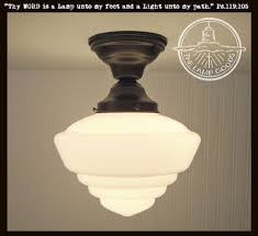 Schoolhouse Ceiling Light Windham Milk Glass Schoolhouse Ceiling Light Fixture The L Goods
