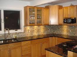 Stone Backsplash Kitchen by Wondrous Photo Kitchen Stone Backsplash Ideas With Dark