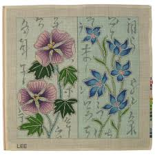 flowers asian design u2013 snowgoose needlepoint