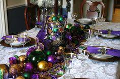 mardi gras table runner mardi gras table settings ohhh a mardi gras party would be sooo
