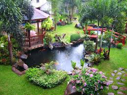 well landscaped yard from