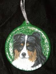 australian shepherd ornament norfolk terrier dog custom hand painted christmas ornament