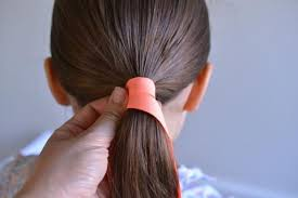 ribbon ponytail hair tutorial ribbon wrapped ponytails hello shiso