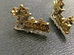 Double Plated Name Necklace Personalized 14k Gold Plate Double Plated Any Name 3d Necklace