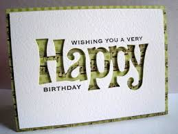 Cricut Birthday Card Like The Negative Image Backed With Patterned Paper Cards