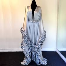 dressing gown boudoir by d lish rosalind silk charmeuse extravagant dressing
