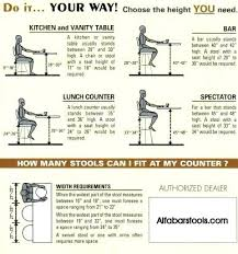 standard seat height bar table height standard hism co