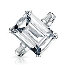 emerald cut rings images 925 sterling silver emerald cut 8 5ct clear cz engagement ring jpg