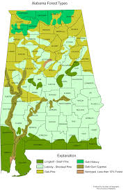 County Map Of Alabama Alabama Forest Types U2022 Mapsof Net