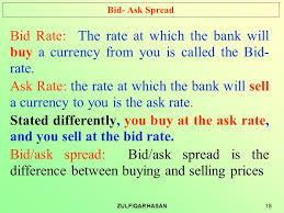 bid rate international finance ppt