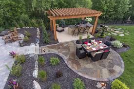 St Paul Patios by Hamel Backyard Pool And Patio Southview Design