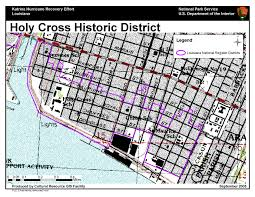 New Orleans Neighborhoods Map by Ncptt Maps And Lists Katrina Rita