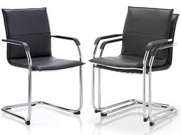 Black And White Desk Chair by Echo Leather Visitor Cantilever Office Meeting Chair Office Furniture