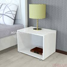 Lighted Nightstand Clear Acrylic Lucite Nightstand Clear Acrylic Lucite Nightstand