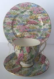 vintage shelley chintz tea cup u0026 saucer rock garden pattern ripon