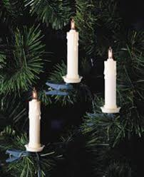 Fixing Christmas Lights String by Set Of 10 Clip On White Candle Light String Set Green Wire