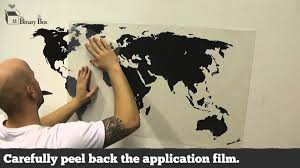 world map wall sticker application the binary box youtube