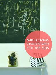chalkboard painted canvas tinkerlab