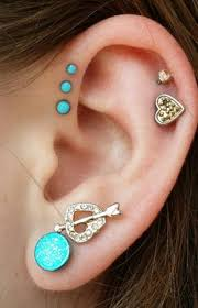 stud cartilage piercing turquoise cartilage piercing tragus earring helix stud in